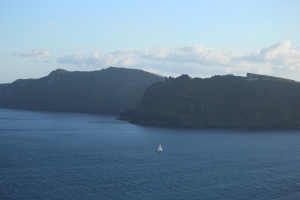 The volcanic islands and the sea