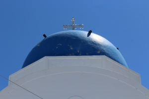 The famous blue church dome