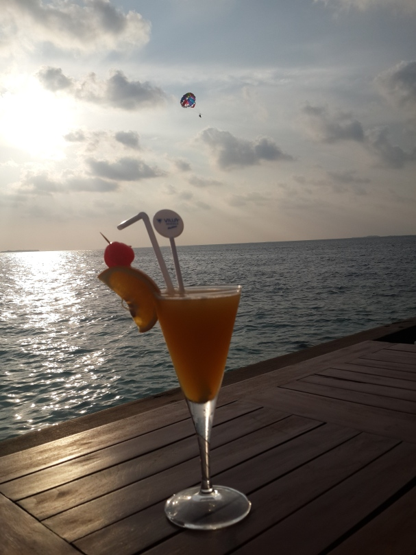 Sunset and cocktails